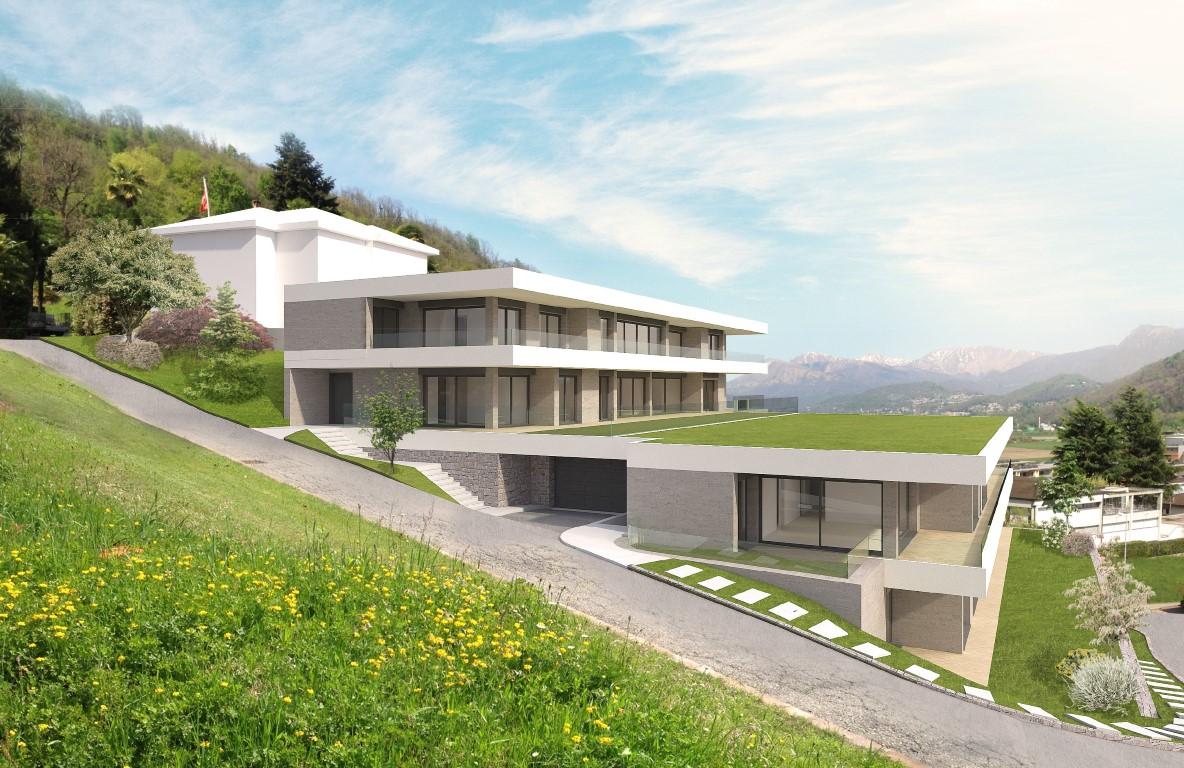 Vendesi ad Agno terreno edificabile con licenza di costruzione approvata